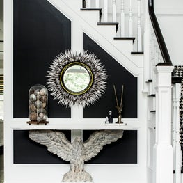 Dramatic Black and White Foyer