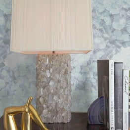 Hydrangea Wallpaper by Brett Design, Inc makes a grand, sophisticated entrance.