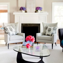 Our client's beautiful living room was featured in a story on Houzz.com!!