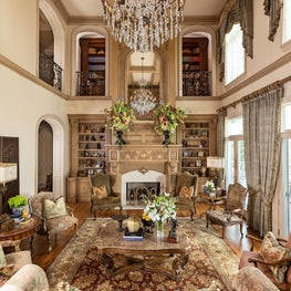 Living Room in French-inspired Chateau