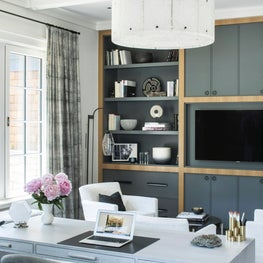 Coastal Contemporary Connecticut House Neutral Home Office