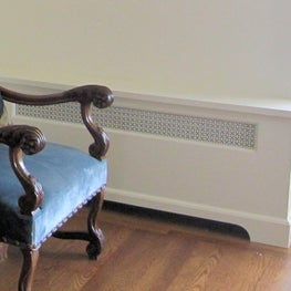 San Francisco flat, custom white traditional radiator cover