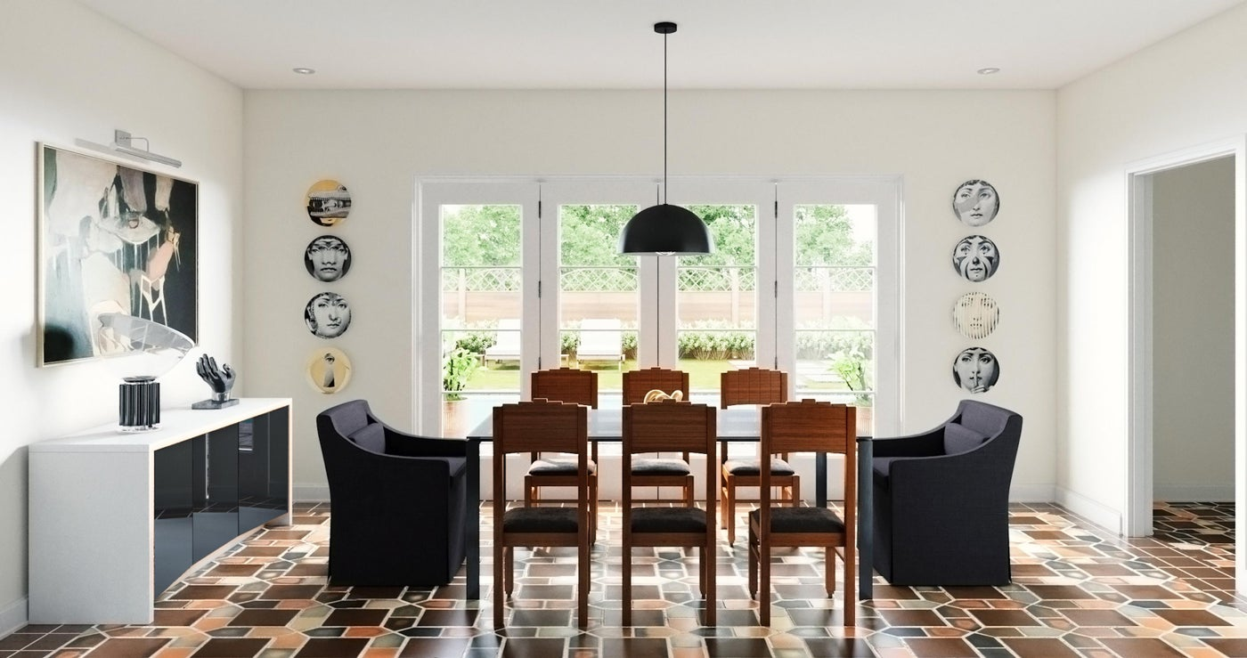 Eclectic Statement Dining Room