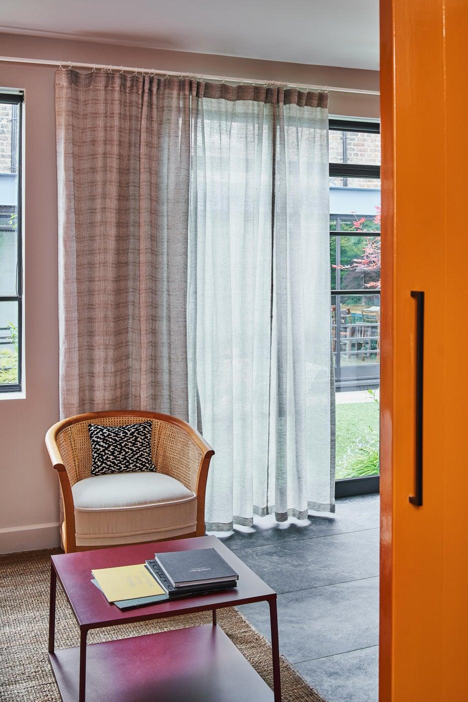 West London Design Studio, bright orange reception room