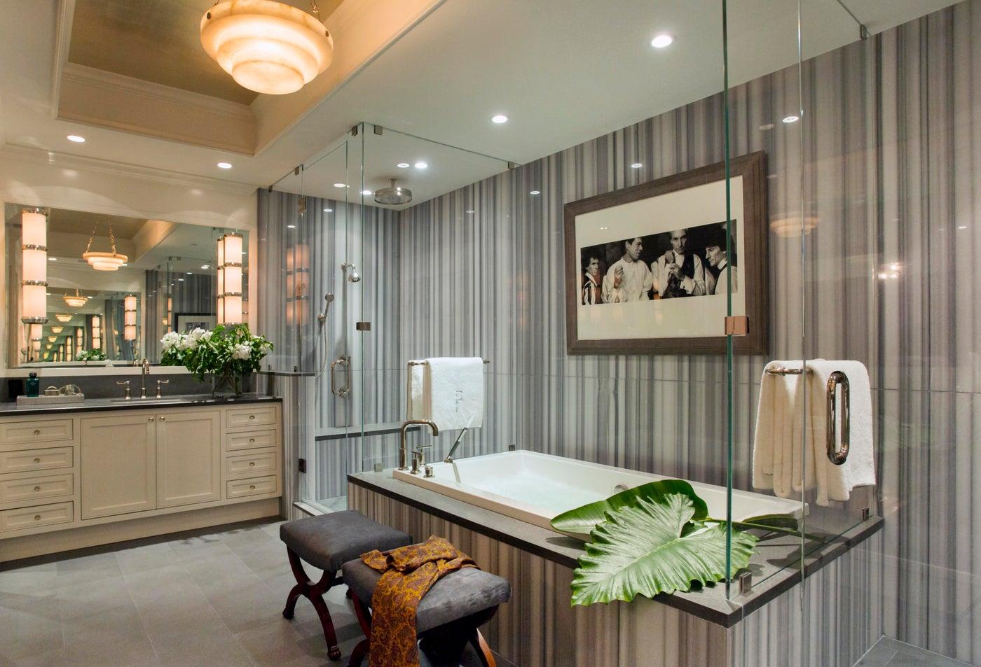 Masculine Master Bathroom with Wagamama Stone
