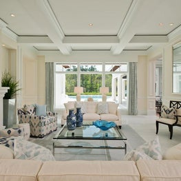 Florida Formal Living Room by Diane Burgoyne Interiors