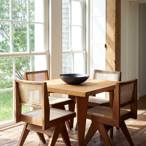 Mid Century Modern Scandinavian Farmhouse Style New England House Dining Area