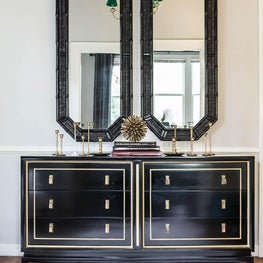Updated Classic - Gold + Black Lacquer Buffet