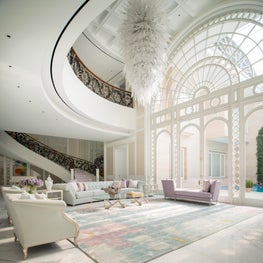 Deco Mansion, living room