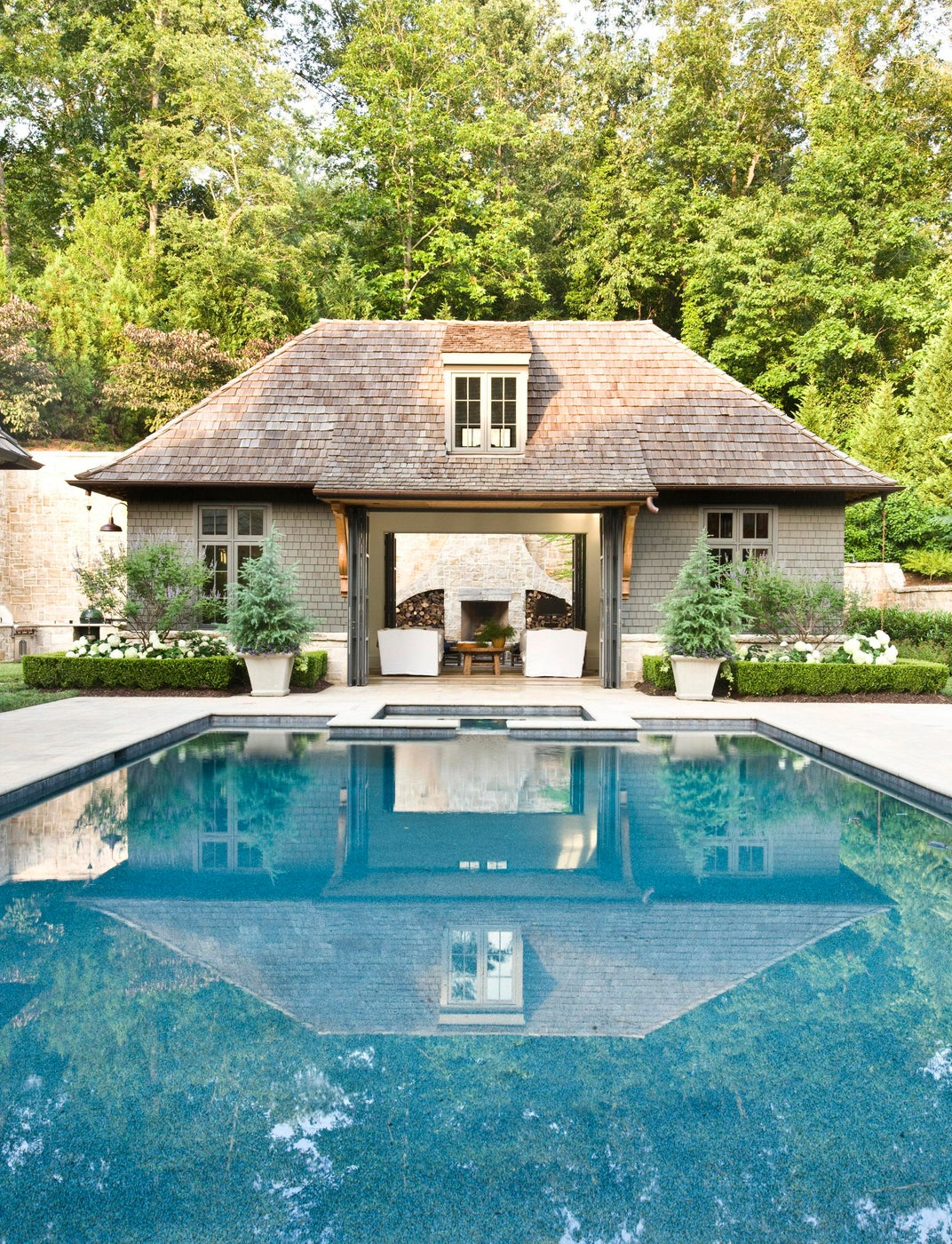 Authentic poolhouse and pool