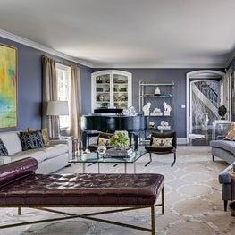 Darien Waterfront Living Room