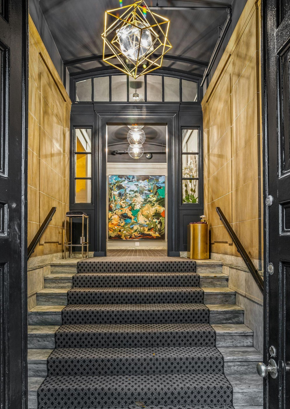 New York City Townhouse Entry