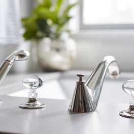 Master Bathroom Tub Filler and Faucet
