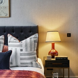 Lofty Ambitions - master bedroom, sophisticated with tactile qualities
