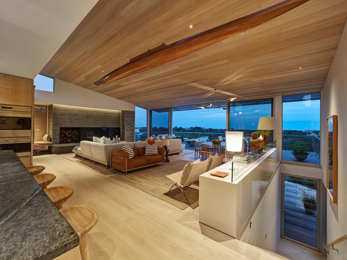 House on the Bluff Living Area