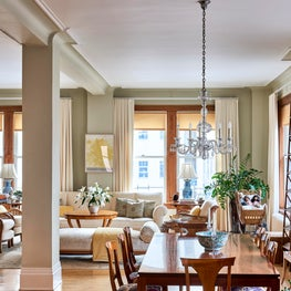 Restored Viennese and Austrian living and dining with valuable family heirlooms