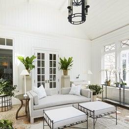 Sunlit garden room designed for flexible everyday use.