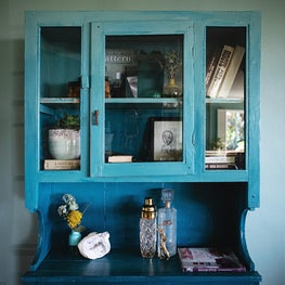 Windsor Hills House - Custom Painted Ombre Hutch