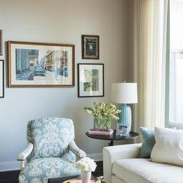 Corner detail of formal living room