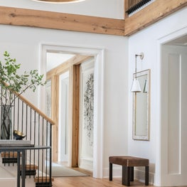 Connecticut Glam Industrial Modern Farmhouse Style Entry