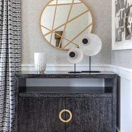 Dining Room detail with brass accents