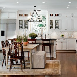 Kitchen Cape Cod Style, Calacutta marble, Visual Comfort Lighting, White kitchen