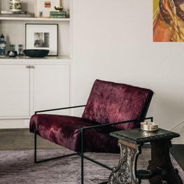 San Francisco Residence, Living Room with Lawson-Fenning chair and vintage table