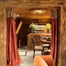 A Bar with Rustic Cabin Flair