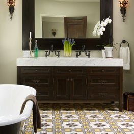 Bathroom with Encaustic Tile