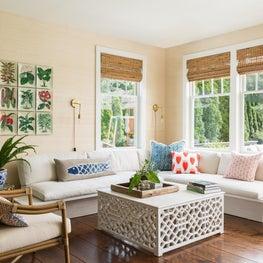 Breakfast room in classic Hampton's weekend home