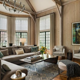 A large scale familyroom, with inviting comfort and style.