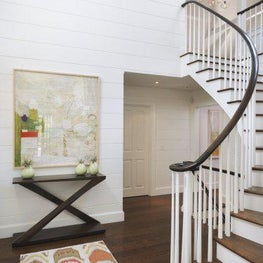 Nantucket, Beach House, Entry, Foyer, Staircase, Artwork