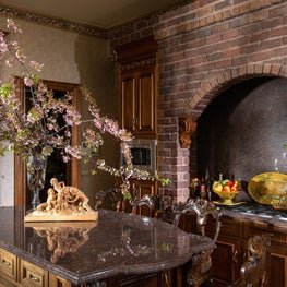 French Country Kitchen Island and Cook Top