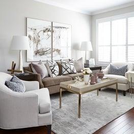 Contemporary Toronto Townhouse Living Room