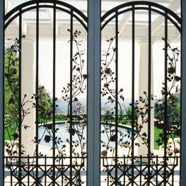 Pool Gate Hand Forged Custom Rose Design