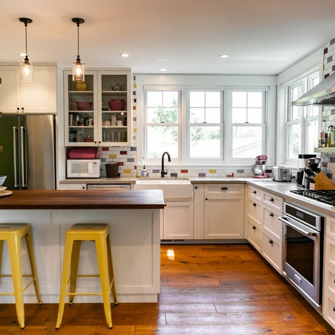 West County Colorful Farmhouse: A remodeled home that is bright, airy, and infused with a laid-back Sonoma style.