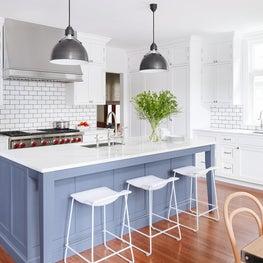 White Kitchen Blue Island