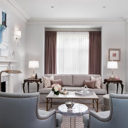 Hilton Living Room, custom furnishings