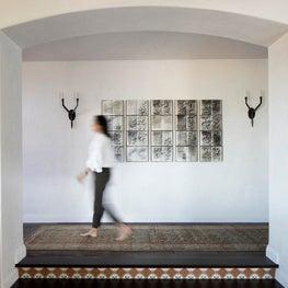 La Jolla Hallway with book artwork