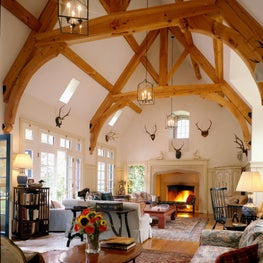 Gothic Revival great room in Bedford, NY