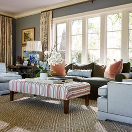 English Tudor in Greenway Parks, Living Room with warm color palettes