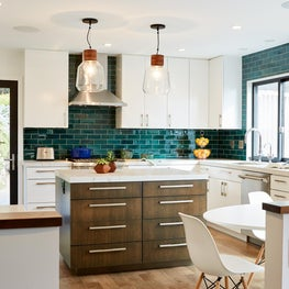 Oakland Bold Tile Kitchen