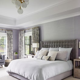 Transitional glam bedroom