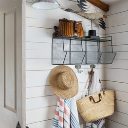 Mudroom entrance with beachy vibes