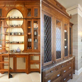 A St. Paul in-home apothecary uses middle eastern influence for the cabinetry