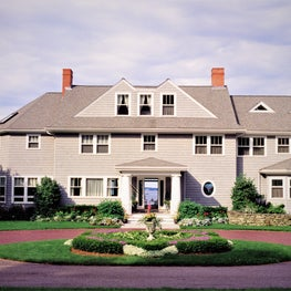Formal Entry Court for Waterfront Shingle Style Residence