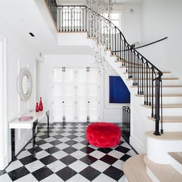 Foyer of a home in Brooklyn, New York