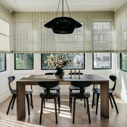 Light filled breakfast nook. Designed by Lindsay Gerber.