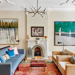 West Village Eclectic Living Room