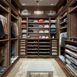 Interior Architecture of Miami Indian Creek Home featured in Architectural Digest - His Closet